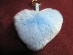 Брелок сердце голубое