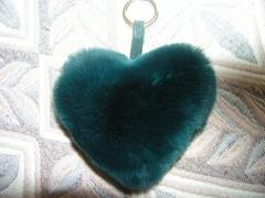 Брелок сердце зеленое