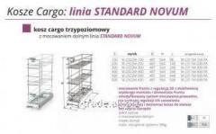Выкатная корзина для кухни  Kosz Cargo- linia STANDARD NOVUM W-2322M-150