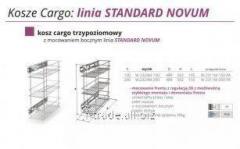 Выкатная корзина для кухни  Kosz Cargo- linia STANDARD NOVUM W-2324M-150
