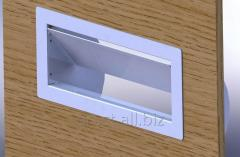 Mortise hatch for trash compartment