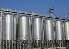 Batteries of silos elevators