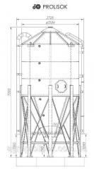 Fodder silos of 24,5 t, 32,6 m3