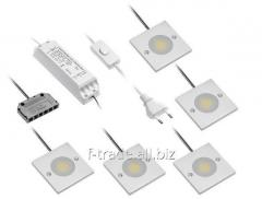 Комплект светодиодных светильников арт.: LD-Z5KJVCOB-CB LD-Z5KJVCOB-ZB