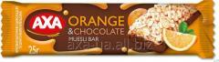شريط الحبوب مع الشوكولاته وشرائح البرتقال 25G