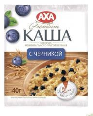 Flocons d'avoine avec les bleuets préparation