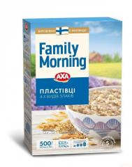 4 kinds of cereal flakes AXA Family Morning 500 g