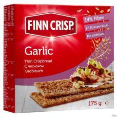 FINN CRISP Cracker mit Knoblauch. Gewicht: 175 g