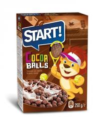 Balls with cocoa
