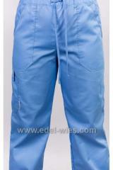 Медицинские брюки прямого кроя