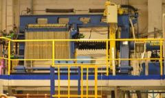 The filter press of a WC 25/15-800, is established