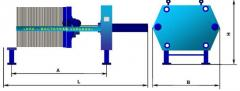 Filter presses WC thickeners With on the basis of