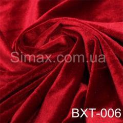 Ткань бархат стрейч, Код: Красный ВХТ-006