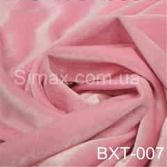 Ткань бархат стрейч, Код: Розовый ВХТ-007