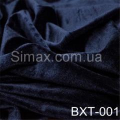 Ткань бархат стрейч, Код: Темно-синий ВХТ-001