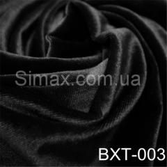 Ткань бархат стрейч, Код: Черный ВХТ-003