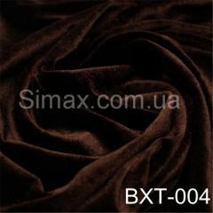 Ткань бархат стрейч, Код: Шоколад ВХТ-004