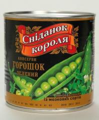 The green peas preserved for export of can
