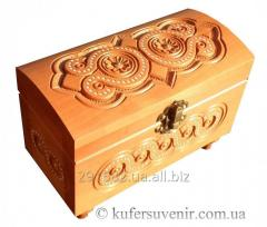 The casket of handwork is inlaid with beads