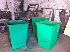 Trash cans, containers MSW, capacities for
