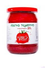 Паста томатная 25% с крышкой «twist-off». Вес 500 г. ГОСТ.