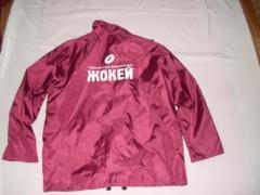 Jacket with corporate symbolics