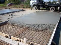 Concrete for the base
