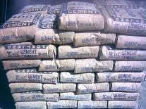 The cement which is packed up