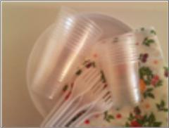 Набор одноразовой посуды Отдых ТМ Помощница, на 10 персон