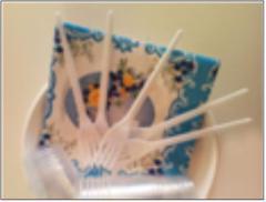 Набор одноразовой посуды Поляна ТМ Помощница, на 6 персон