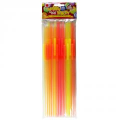 Fluorescent long straw (25 pcs)