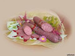 Колбаса копчёно-варёная Салями Ювелейная