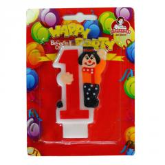 Candles for cake  Candle-number with the clown 0-9, 8 cm