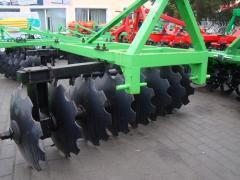 The strengthened hinged disk harrow of BDN-2,4 on