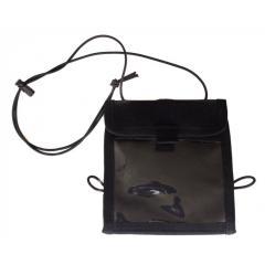 Сумка для документов кошелек на шею черный