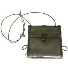 Сумка для документов кошелек на шею олива
