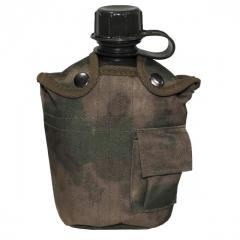 Flask in MFH cover 1 liter of A-TACS FG 33223E