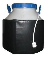 Декристаллизатор, роспуск мёда в пластиковой ёмкости 60 л. Разогрев до + 40°С.