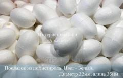 Float from polystyrene of 22 mm. length is...