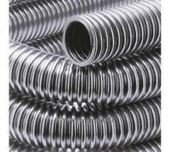 Corrugated pipe from a stainless steel
