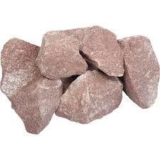 Камень для сауны Малиновый кварцит колотый 20 кг