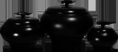 Кастрюля чугунок печной V1,5 л с крышкой
