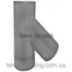 Тройники с термоизоляцией 45° из нержавеющей стали 0,8 мм. в кожухе из нержавеющей зеркальной стали
