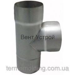 Тройники с термоизоляцией 90° из нержавеющей стали 0,8 мм. в кожухе из нержавеющей зеркальной стали