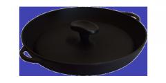 Чугунная сковородка с крышкой