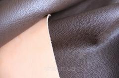 Кожа натуральная для производства галантерейных изделий из шкур КРС коричневая арт. СК 1129