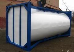 Резервуар контейнерного типа для перевозки