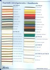 Каптали, лясе, резинки, лєнточки для текстиля, плівки для гарячого та холодного ламінування