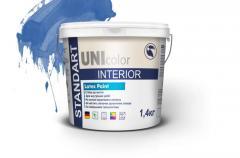 Paint acrylic UNI STANDART INTERIOR resistant to