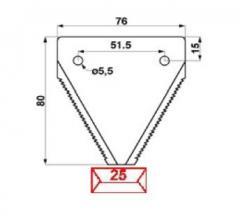 Сегмент DIN 300Cr H45996